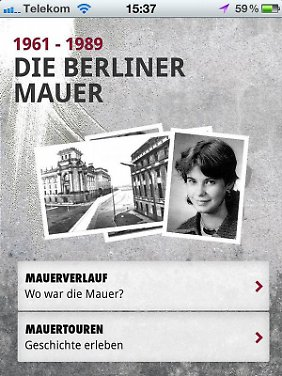 Berliner Geschichte vor Ort erleben: Die Mauer-App der Bundeszentrale für politische Bildung bietet sich als kundiger Führer an.