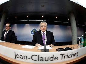 Sitzt noch bis Herbst an der Spitze der Europäischen Zentralbank: Jean-Claude Trichet (rechts).