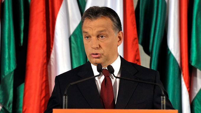 Viktor Orbán kann sich auf eine Zweidrittelmehrheit im Parlament stützen.