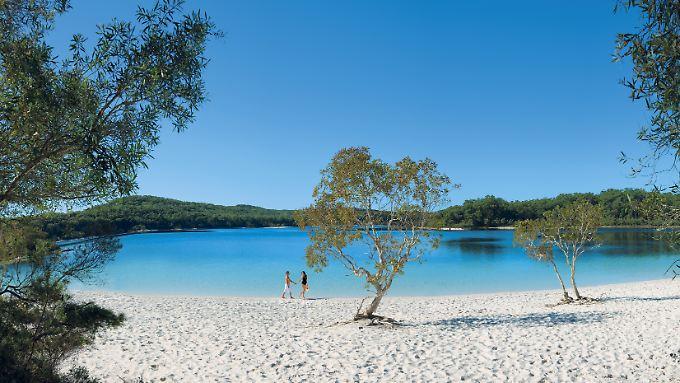 Beliebtes Motiv bei Hobbyfotografen: Der Lake McKenzie gehört zu den meistbesuchten Orten auf Fraser Island.