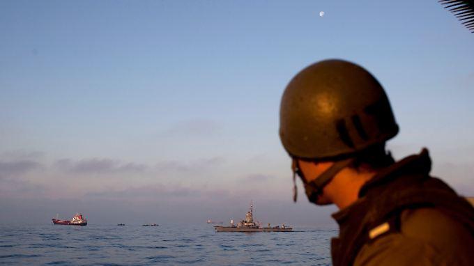 Die Seeblockade Israels entspricht offenbar dem Völkerrecht.