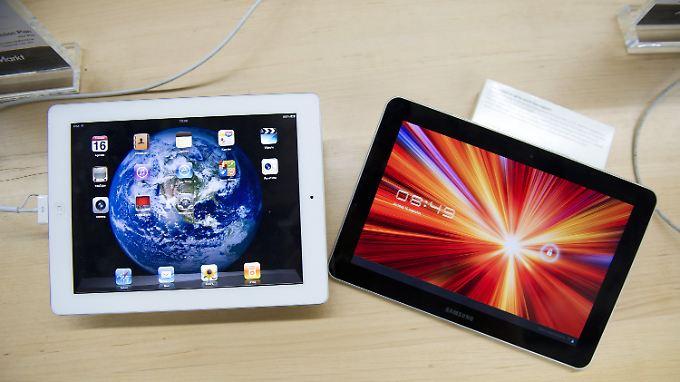 Apple vs. Galaxy: Wie ähnlich sind die Tablets?