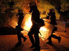 Gewalttätige Proteste in Thessaloniki gegen den Sparkurs der Regierung.
