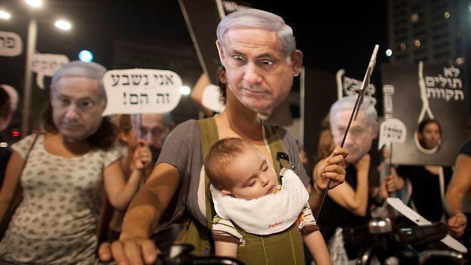 Mit der Regierung unzufrieden: Über 85 Prozent der Israelis unterstützen die Protestbewegung.
