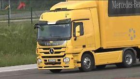 Neues Lkw-Flaggschiff von Daimler: Actros bremst automatisch