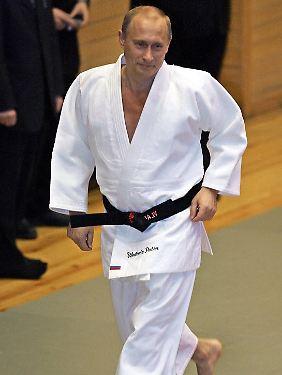 Putin beim Judo-Training.