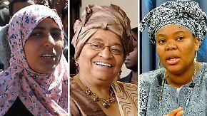 Internationale Zustimmung: Friedensnobelpreis an drei Frauen