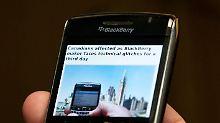 Viele Blackberry-Nutzer mussten auf Teile der Dienste verzichten.