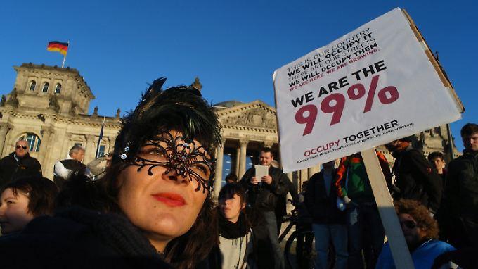 Proteste gegen Gier der Banken: Merkel nimmt Demonstranten ernst