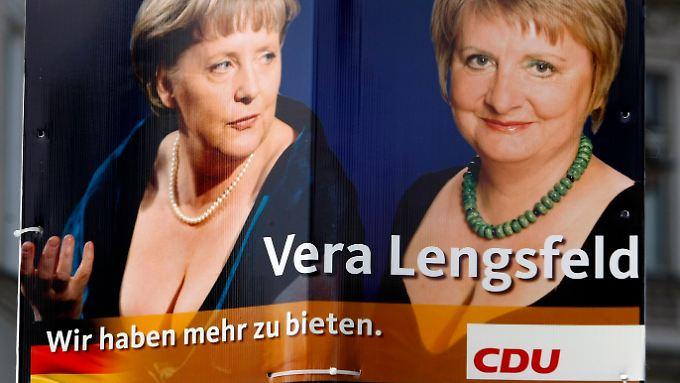 """Wir haben mehr zu bieten"""": Das Wahlplakat der Berliner CDU-Bundestagskandidatin Lengsfeld."""