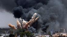 Die NATO bombardierte zahlreiche Ziele in Libyen (hier ein Luftschlag auf Tripolis im März).