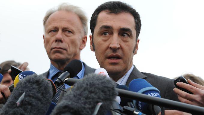 Reden würden sie mit den Linken schon: Jürgen Trittin (l.) und Cem Özdemir.