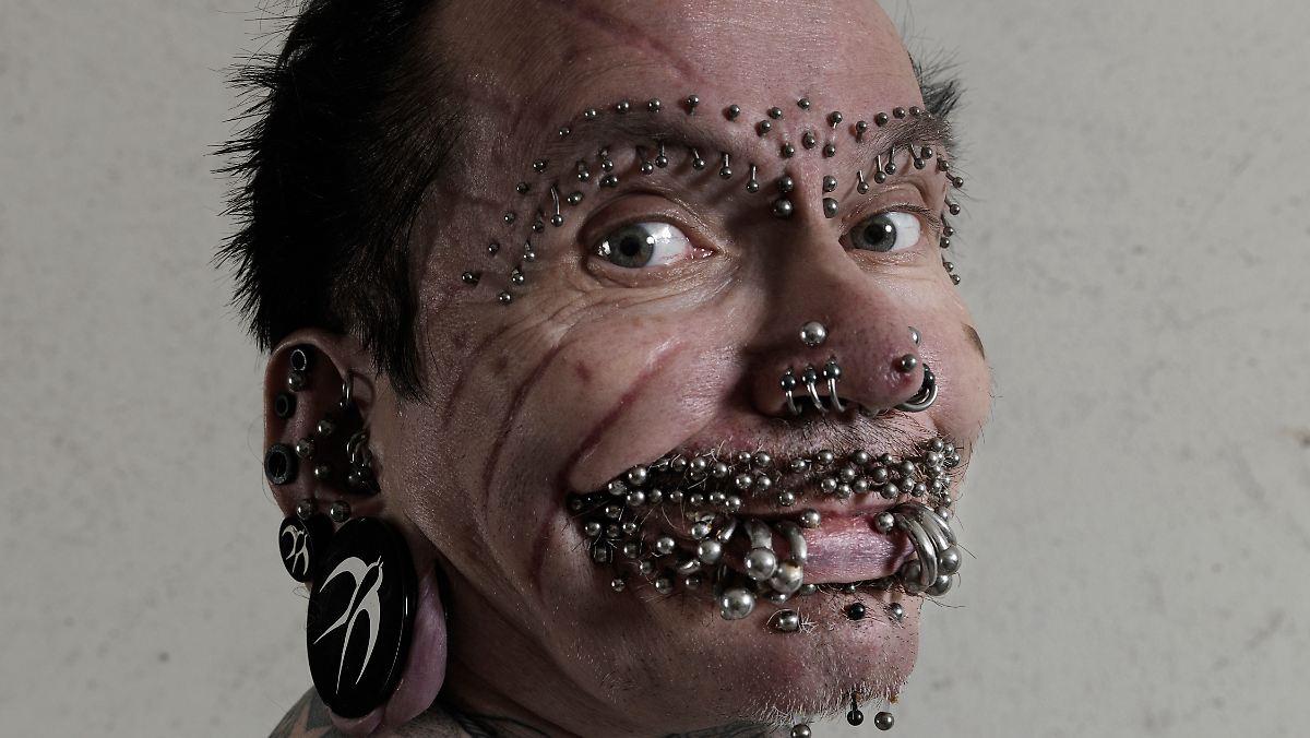 Weltrekord aus Metall: Der meistgepiercte Mann der Welt