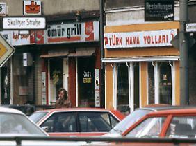 Türkische Geschäfte in Kreuzberg.