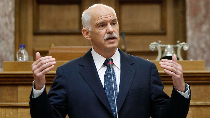 Giorgos Papandreou reagiert auf die schlechte Stimmung in seinem Land.