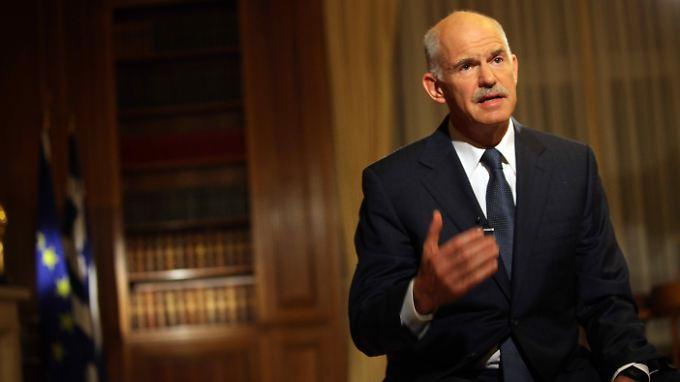 Papandreou will sich die Unterstützung der Griechen holen.
