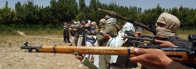Militante Taliban-Kämpfer.