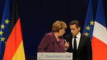 Merkel und Sarkozy gingen mit deutlichen Worten an die Öffentlichkeit.