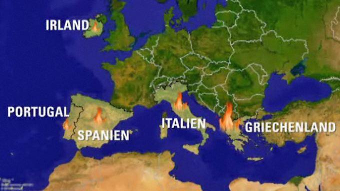 Krisenherd Europa: Es brennt an allen Ecken
