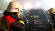"""""""Es hörte einfach nicht auf zu knallen"""": Massenkarambolage auf der Autobahn"""