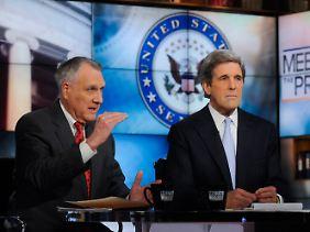 Die Senatoren John Kyle (l.) und John Kerry.