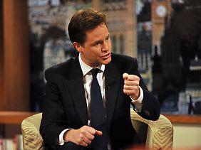 Nick Clegg will mehr Europa. Er ist allerdings zu schwach.