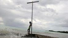 Die Kiribati-Inseln liegen auf halbem Weg zwischen Australien und Hawaii im Südpazifik.