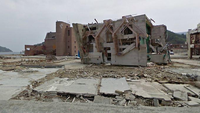 Davor und danach mit Street View: Google zeigt Tsunami-Schäden
