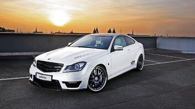 Tuner Väth möbelt den Mercedes C63 AMG auf.