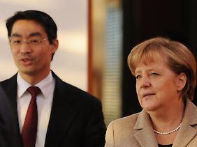 Merkel blieb knapp, Rösler ist zufrieden.