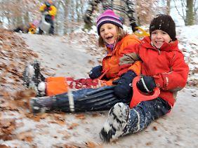 Die meisten Kinder haben im Freien den meisten Spaß.