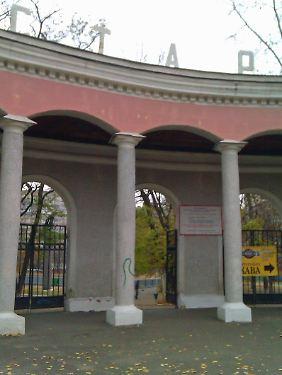 Historischer Ort: Eingang des Start-Stadions in Kiew, das seit 1981 so heißt.