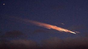 Lichtschweif an Heiligabend: Weltraumschrott sorgt für Aufregung