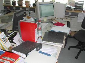 Einige kommen erst durch Chaos auf dem Schreibtisch in die richtige Arbeitsstimmung.