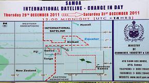 Änderung der Datumsgrenze: Samoa überspringt einen Tag