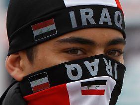 Viele Iraker feiern den Abzug der US-Soldaten.