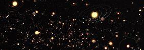 Das ESO-Foto zeigt Sterne und Planeten der Milchstraße.
