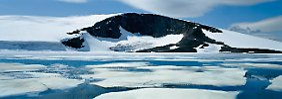 Der Galdhoppigen ist mit seinen 2464 Metern auch im Winter ein beliebtes Ziel für Skifahrer.