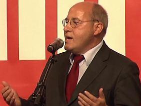 """""""Ich will ein integriertes Europa"""": Der Fraktionschef der Linkspartei, Gregor Gysi."""