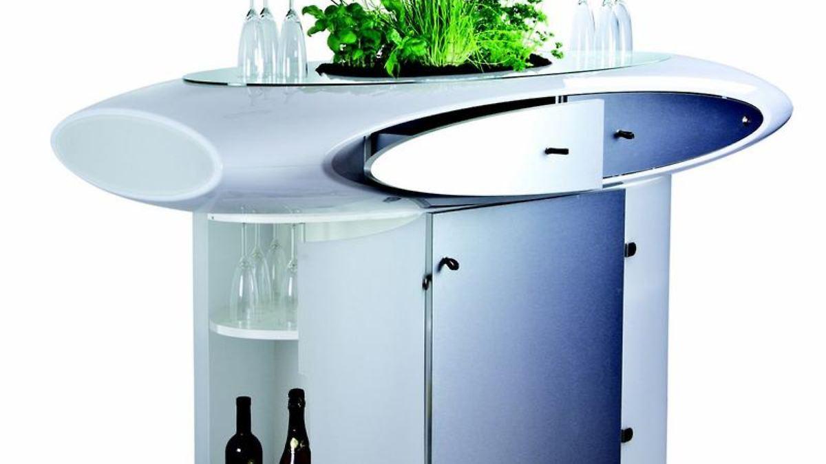 wohnen gr ne m bel bepflanzbare tische und betten n. Black Bedroom Furniture Sets. Home Design Ideas