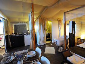 Das Luxuszelt kann über die Reisefirma Vacanceselect gebucht werden.