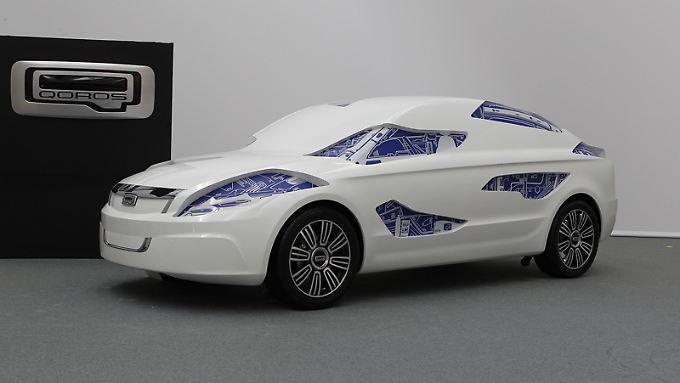 Der Qoros soll als eigenständiges Fahrzeug mit klar erkennbaren Formen Akzente im chinesischen Autobau setzen.