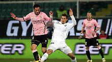 Miroslav Klose spielte in Palermo eine Halbzeit mit, dabei aber so glücklos wie der Rest des Teams.