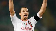 Tore im Fünfminutentakt:  Zlatan Ibrahimovic, AC Mailand.
