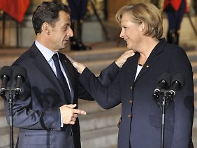 """Denn, so Merkel: """"An einem Tag, an dem man wiedergewählt wurde, ist man froh, und dann ist es besonders schön, bei Freunden zu Gast zu sein."""""""