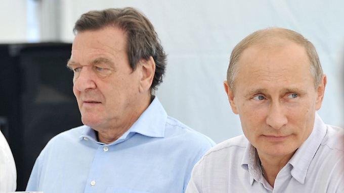 Schröder und Putin: eine deutsch-russische Freundschaft.
