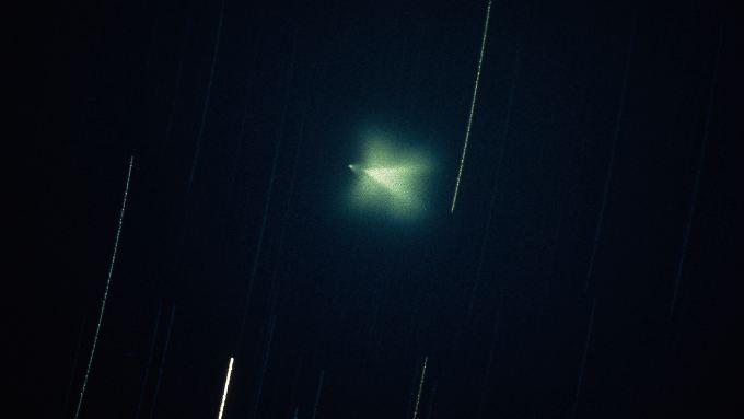 Dieses angebliche UFO wurde über Salzburg gesichtet.