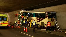 28 Tote bei Busunglück: Horrorunfall im Schweizer Tunnel