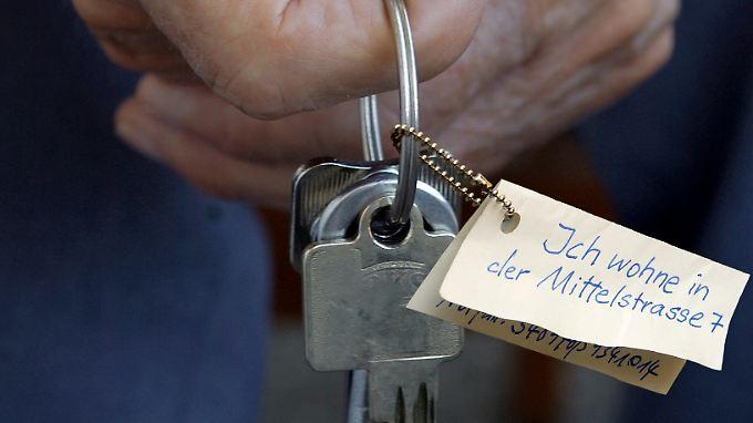 Eine Erinnerungshilfe am Schlüsselbund.