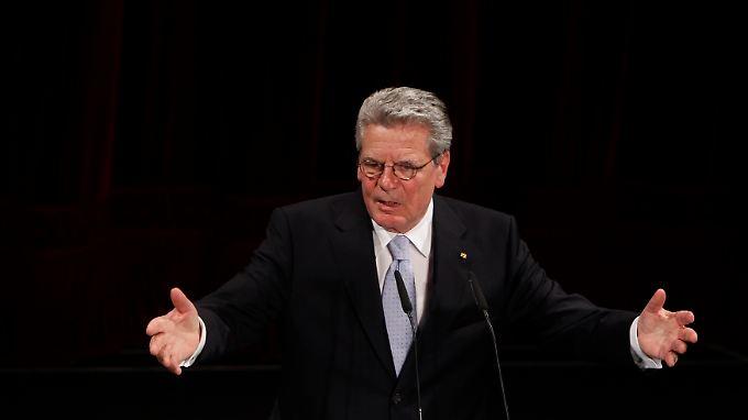 Der Großteil der Deutschen steht hinter Joachim Gauck.